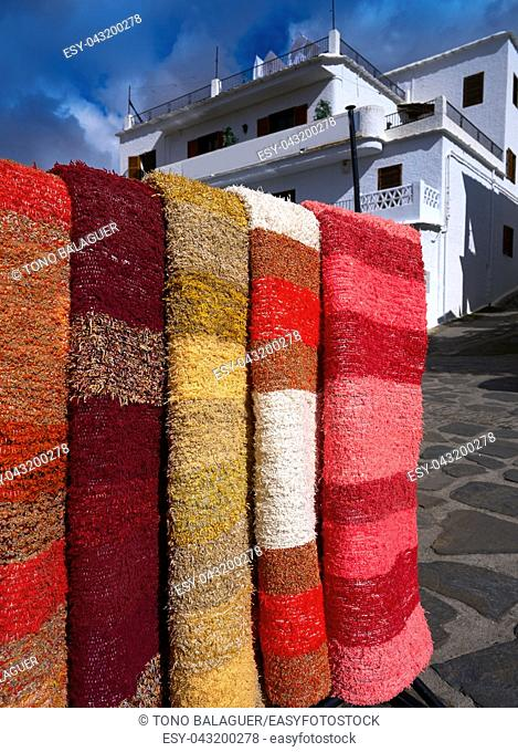 Alpujarras blankets rugs in Granada traditional colorful Serape