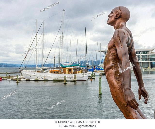 Statue, Solace of the Wind, Wellington Harbour, North Island, New Zealand