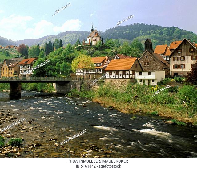 Weisenbach in the Murg valley High Black Forest Baden-Wuerttemberg Germany