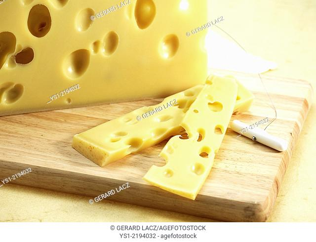 Emmental, Swiss Cheese produced from Cow's Milk
