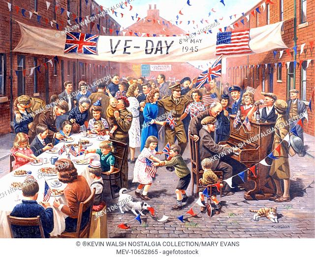 VE Day Celebration at the end of the Second World War