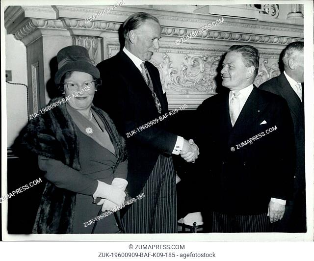 Sep. 09, 1960 - Lord Mayor of London Receives the Mayor of Fredericksberg- Virginia.: The Lord Mayor of London this afternoon received the Mayor of...