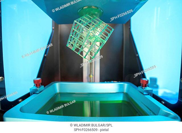 Stereolithography photopolymer 3d printer