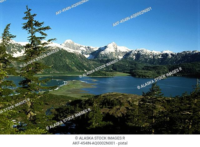 Prince William Sound Chugach Mtns SC Alaska summer scenic