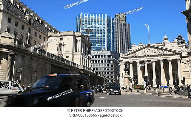 The City of London, Corn Exchange,Stock Market and the Bank of England