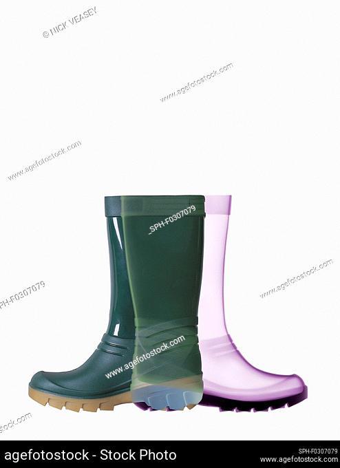 Wellington boots, X-ray