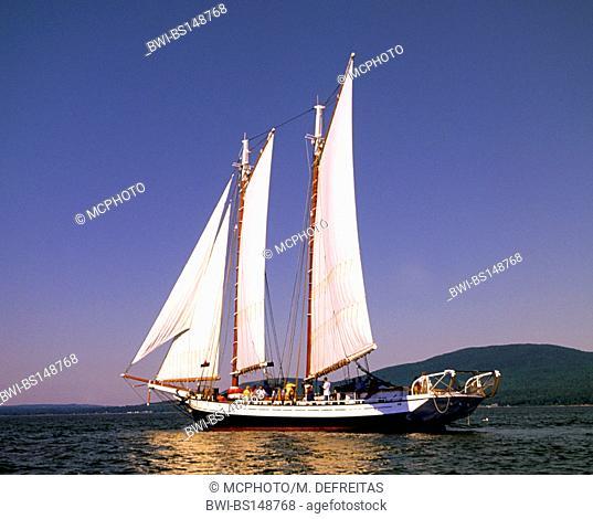 sailing ship, USA, Maine