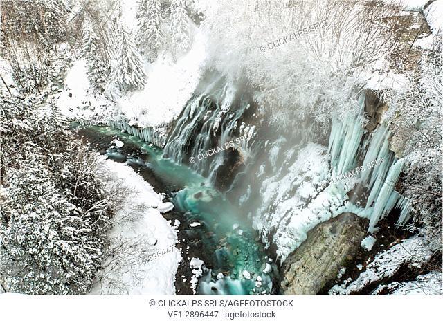 Shirahige falls, Hokkaido, Biei, Japan