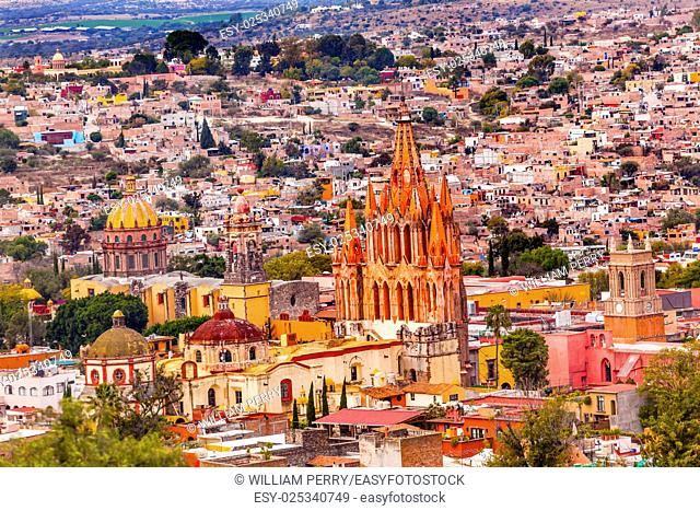 San Miguel de Allende, Mexico, Miramar Overlook Parroquia Archangel Church Churches Houses
