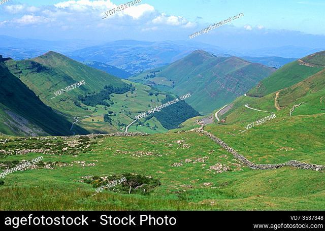 Pas Valley from Puerto de las Estacas de Trueba. Cantabria, Spain