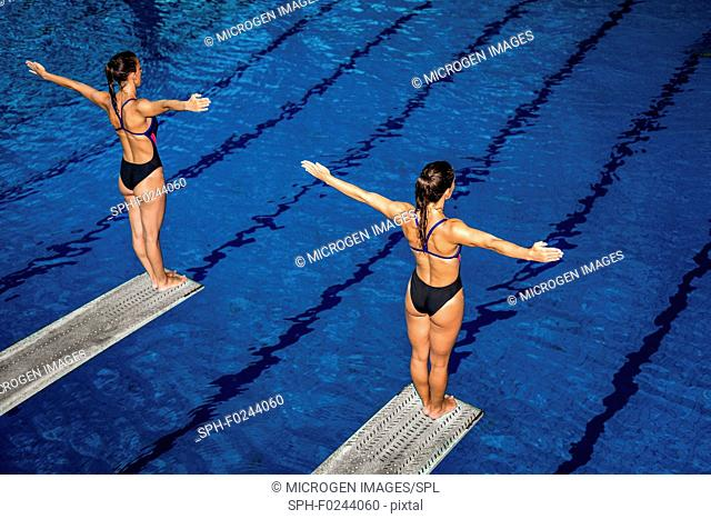 Synchronised diving
