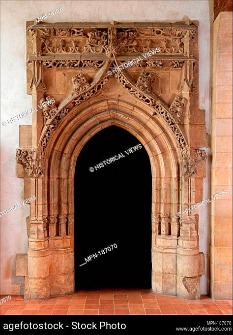 Gothic Doorway. Date: ca. 1520-30; Geography: Made in Poitou, France; Culture: French; Medium: Limestone; Dimensions: Overall: 175 x 106 in. (444