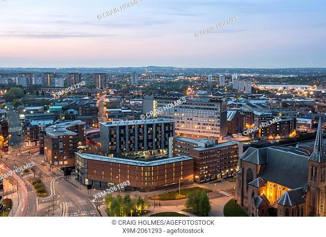 St Chads Cathedral and the Gun Quarter of Birmingham, England