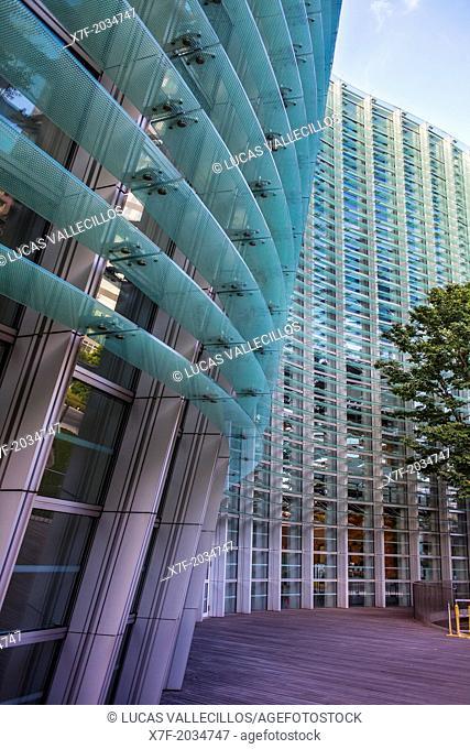 Main facade of the National Art Center, Tokyo, Japan