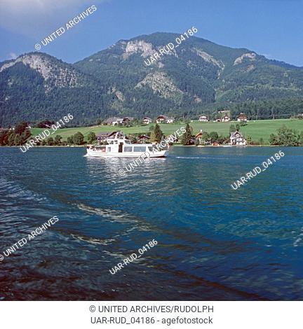 Reise zum Wolfgangsee in Salzburg, Österreich 1980er Jahre. Journey to Lake Wolfgang in Salzburg, Austria 1980s