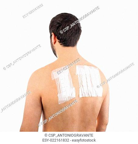 Skin Allergy Patch Test on Bacck