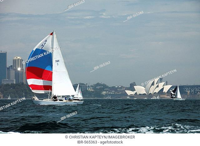 Sydney Harbour Bay and Sydney Opera House, New South Wales, Australia