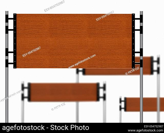 Empty wooden sign for promotional purposes
