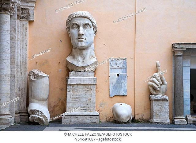 Statue of Constantine, Palazzo dei Conservatori, Capitoline Museums, Rome, Italy