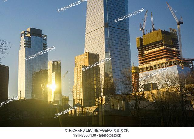 Hudson Yards and adjacent development in New York