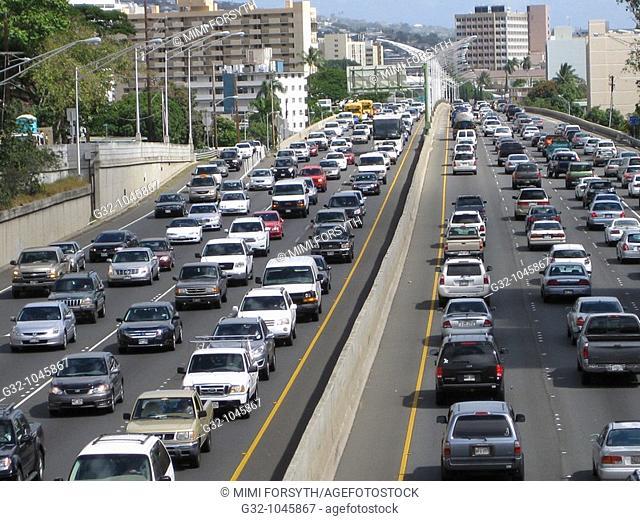 Traffic, Honolulu, Hawaii, USA