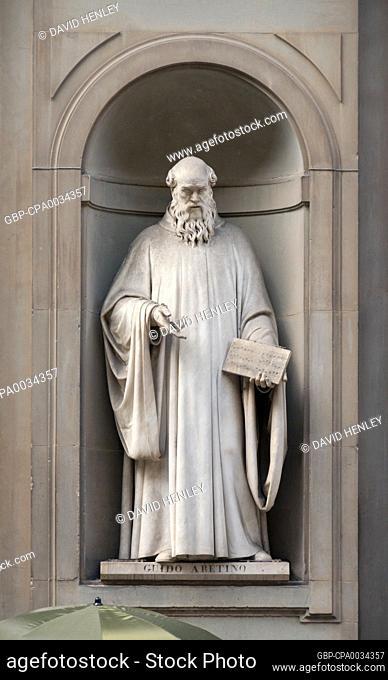 Guido of Arezzo (also Guido Aretinus, Guido Aretino, Guido da Arezzo, Guido Monaco, or Guido d'Arezzo, or Guy of Arezzo also Guy d'Arezzo) (991/992 – after...