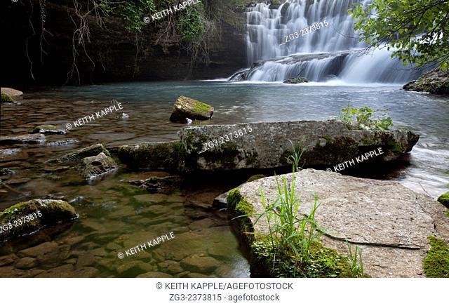 Waterfall in the Ozark Mountains, Blanchard Springs, Arkansas