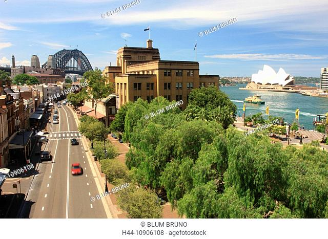 Sydney, Australia, New South Wales, Sydney Harbour, Sydney Harbour-Bridge, Skyline, Opernhaus, Opera House, tourist-attraction, The Rocks, Circular Quay