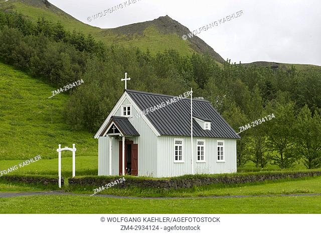 The church at the Skogar folk museum in southern Iceland