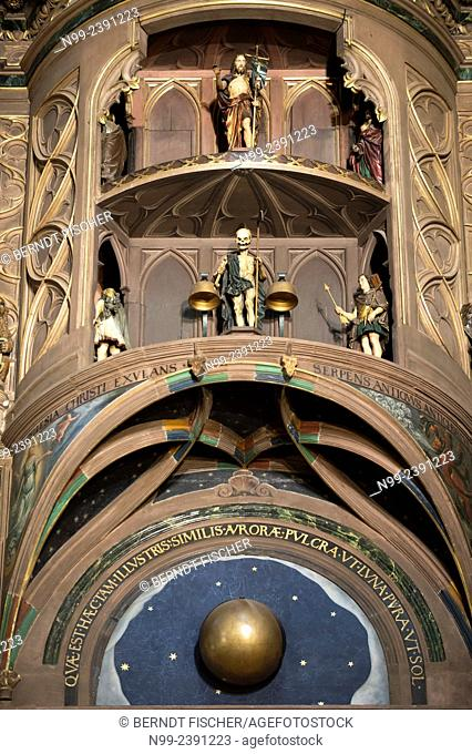 Strasbourg, cathedral, astronomic clock, Alsace, France