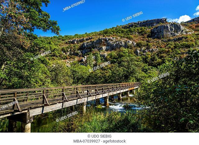 Croatia, Dalmatia, region of Sibenik, Krka National Park, Roski Slap, Krka Gorge