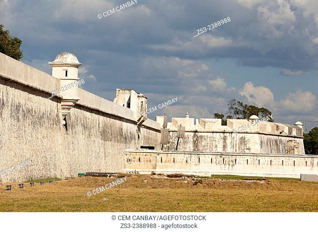 Baluerte de Sn. Francisco, historic fort at the center of Campeche, Campeche, Yucatan, Mexico, Central America
