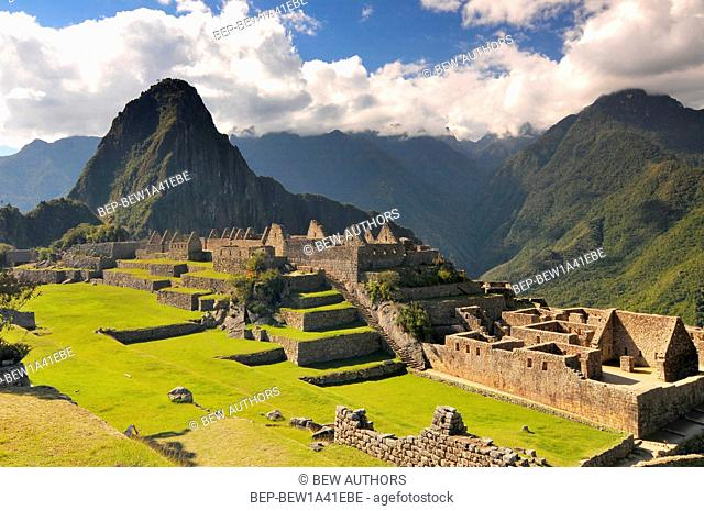 Peru, Cuzco area, Crow Valley, Machu Picchu Incas ruins