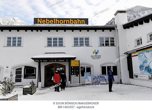 Valley station, Nebelhorn Cable Car, Nebelhorn, 2224m, Oberstdorf, Allgaeu, Bavaria, Germany, Europe