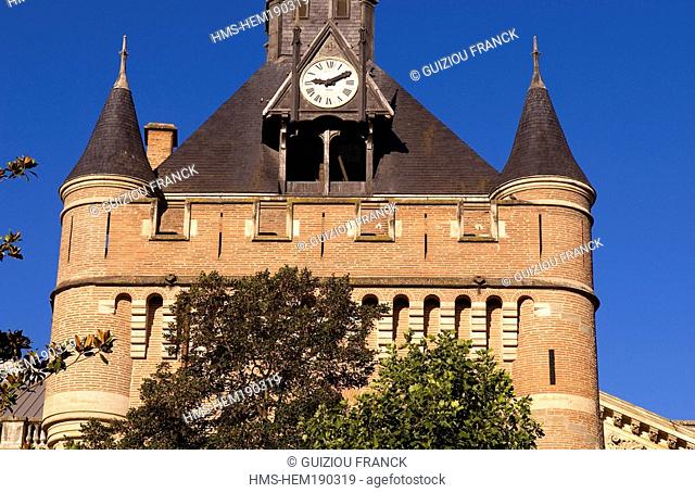France, Haute Garonne, Toulouse, Donjon of the Capitole, formely Tower of the Archives