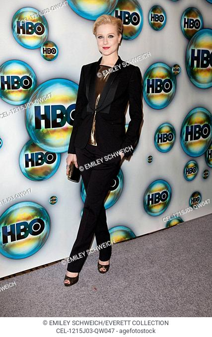 Evan Rachel Wood (wearing a Gucci suit) at arrivals for HBO Golden Globes Awards After-Party, Circa 55 Restaurant at the Beverly Hilton, Los Angeles