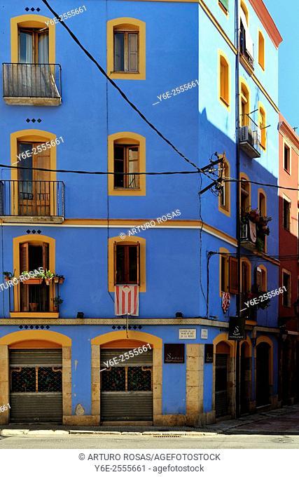 Blue building in Tarragona