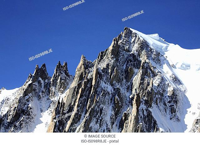 Mountains in french alps near mont blanc