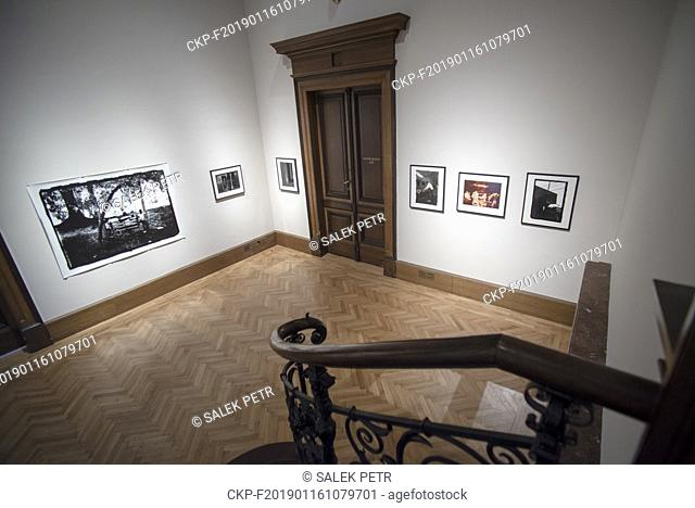 """A part of the """"""""A Series of Utterly Improbable, Yet Extraordinary Renditions"""""""" exhibition by US artist Arthur Jafa is seen in the Rudolfinum Gallery in Prague"""