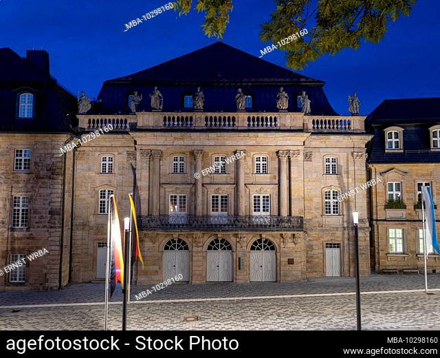 Margravial Opera House Bayreuth, dusk, UNESCO World Heritage, Franconia, Bavaria, Germany