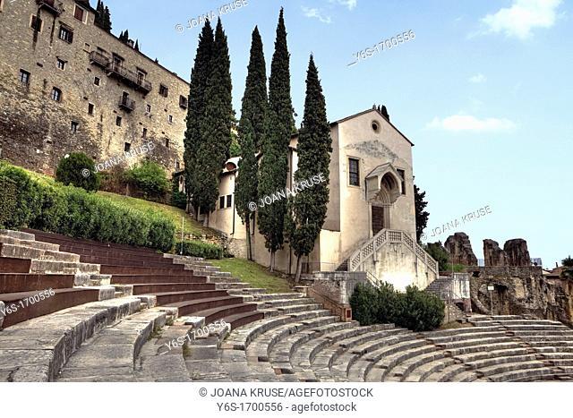 Roman Theatre, Santi Siro e Libera, Verona, Veneto, Italy
