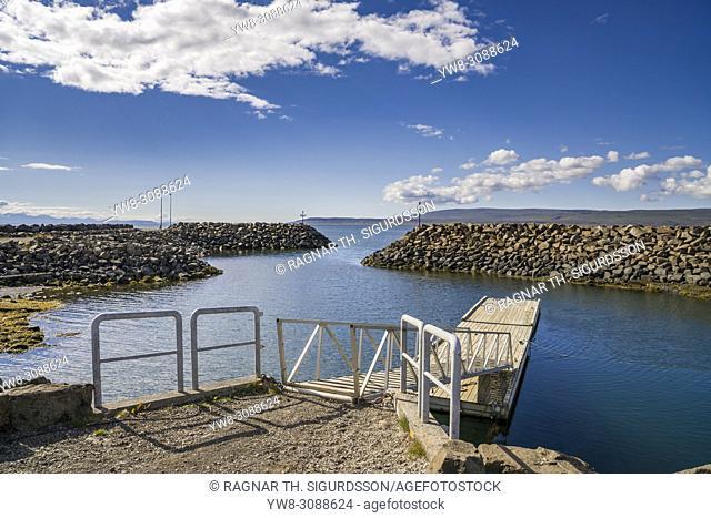 Harbor at Budardalur, Western Iceland