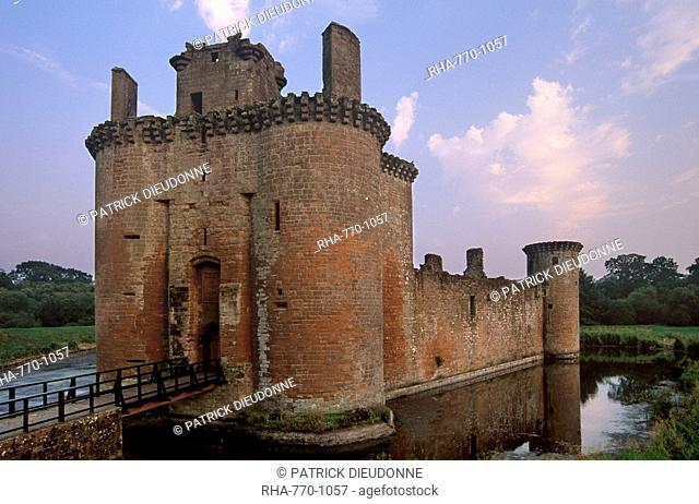 Caerlaverock Castle dating from the 13th century, near Dumfries, Dumfries and Galloway, Scotland, United Kingdom, Europe