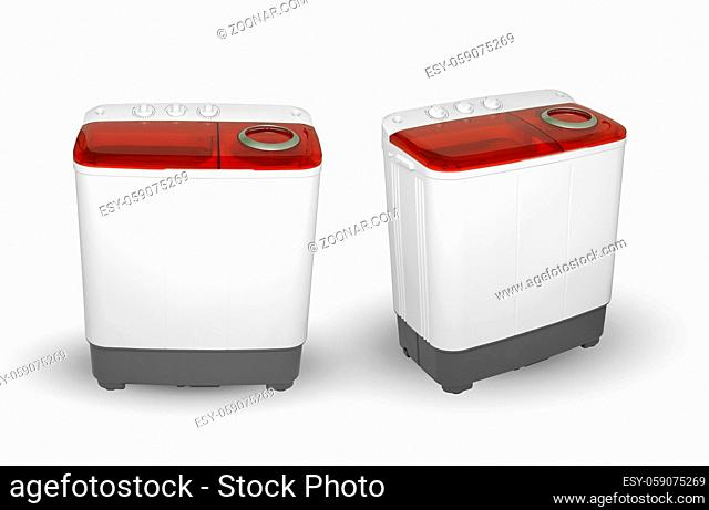 activator washing machine on a white background, two image positions