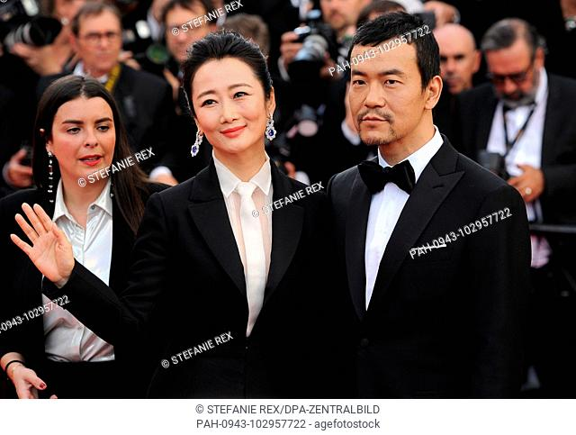 08.05.2018, France, Cannes: Liao Fan (r) and Zhao Tao attend the screening of 'Everybody Knows (Todos Lo Saben)' and the opening gala during the 71st annual...