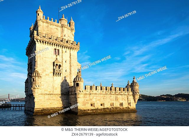 Torre de Belem (Belem Tower or Tower of St Vincent), Belem, Lisbon, Portugal, Unesco World Heritage Site