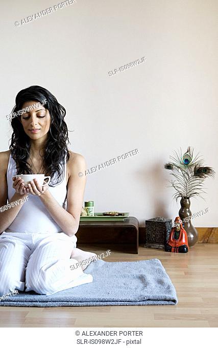 Women drinking herbal tea