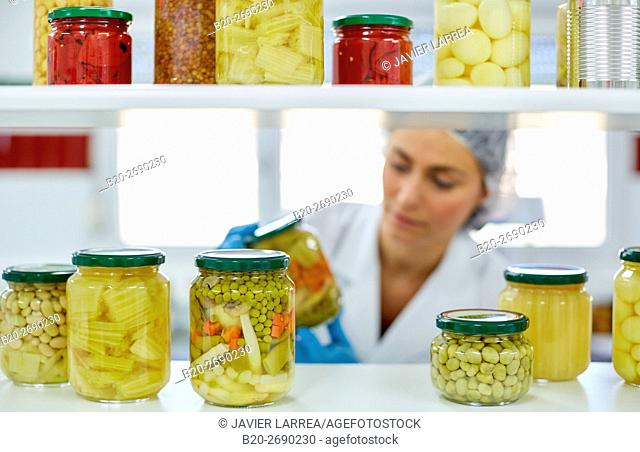 Laboratory quality control, Production line of canned vegetables and legumes, Canning Industry, Agri-food, Villafranca, Navarre , Spain