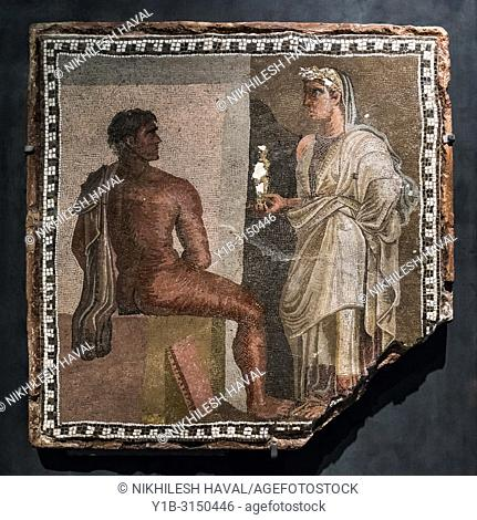 Mosaic with Orestes and Iphigenia, Capitoline Museums, Rome, Italy
