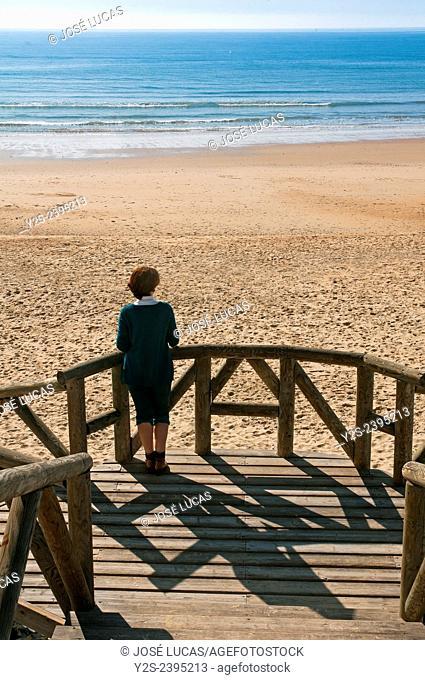 Mazagon beach, Mazagon, Huelva province, Region of Andalusia, Spain, Europe